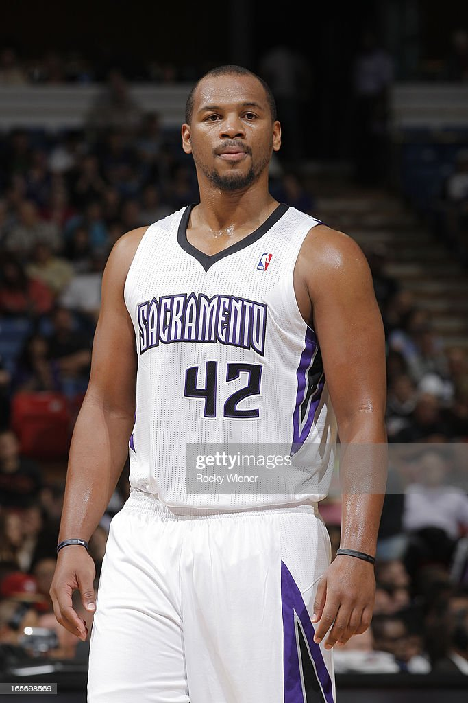 <a gi-track='captionPersonalityLinkClicked' href=/galleries/search?phrase=Chuck+Hayes&family=editorial&specificpeople=206129 ng-click='$event.stopPropagation()'>Chuck Hayes</a> #42 of the Sacramento Kings in a game against the Houston Rockets on April 3, 2013 at Sleep Train Arena in Sacramento, California.