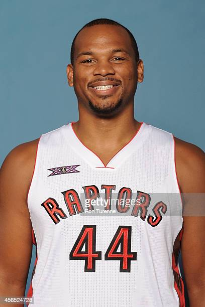 Chuck Hayes of the Toronto Raptors poses for a photo during 2014 Raptors Media Day at the Air Canada Centre in Toronto Ontario Canada NOTE TO USER...