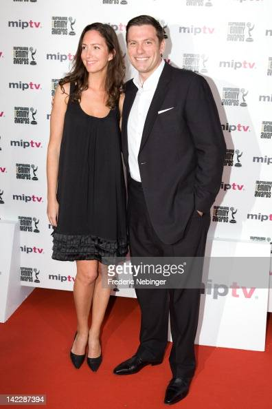 Chuck Hughes and his wife attending the MIP TV 2012 Opening Party at the Martinez Hotel on April 1 2012 in Cannes France