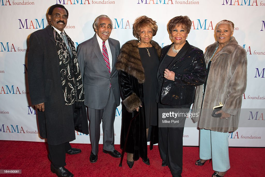 Chuck Jackson, Charles Rangel, Cissy Houston, Vy Higginsen, and Dionne Warwick attends 'Mama I Want To Sing' 30th Anniversary Gala Celebration at The Dempsey Theatre on March 23, 2013 in New York City.