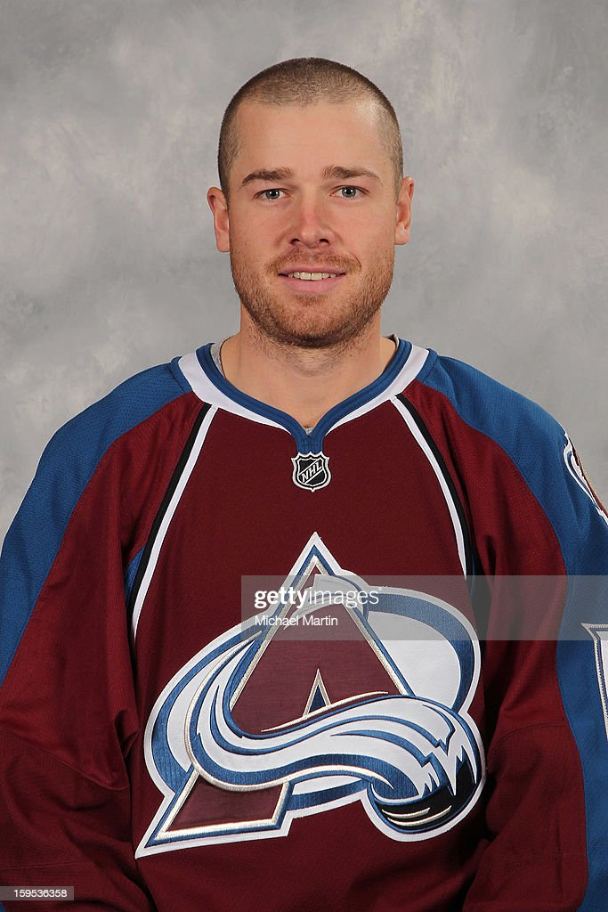 Chuck Kobasew of the Colorado Avalanche poses for his official headshot for the 20122013 NHL season on January 12 2013 in Denver Colorado
