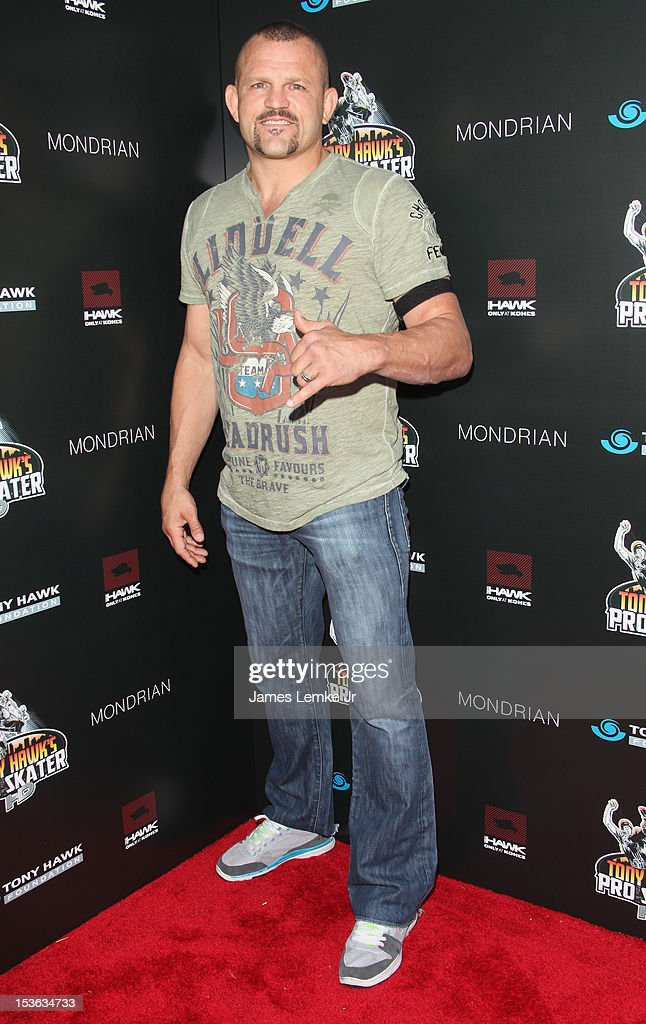 <a gi-track='captionPersonalityLinkClicked' href=/galleries/search?phrase=Chuck+Liddell&family=editorial&specificpeople=608181 ng-click='$event.stopPropagation()'>Chuck Liddell</a> attends 9th annual Tony Hawk stand up for skateparks benefit at the Ron Burkle's Green Acres Estate on October 7, 2012 in Beverly Hills, California.
