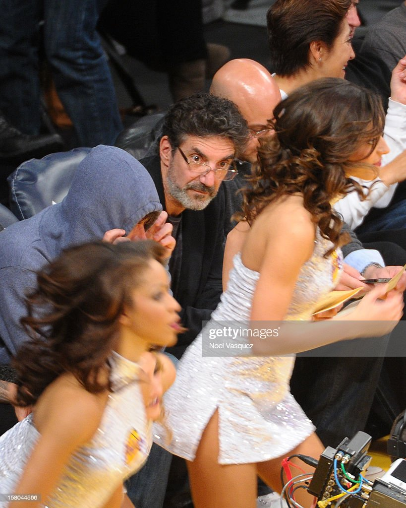 <a gi-track='captionPersonalityLinkClicked' href=/galleries/search?phrase=Chuck+Lorre&family=editorial&specificpeople=2307242 ng-click='$event.stopPropagation()'>Chuck Lorre</a> attends a basketball game between the Utah Jazz and the Los Angeles Lakers at Staples Center on December 9, 2012 in Los Angeles, California.