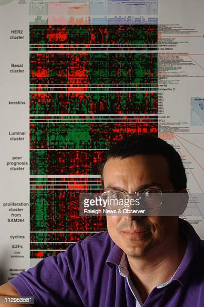 Chuck M Perou an assistant professor of genetics and cancer researcher at the Lineberger Comprehensive Cancer Center UNCChapel Hill poses for...