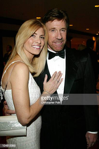 Chuck Norris and Gena O'Kelley during To Protect and to Serve at Century Plaza Hotel in Century City CA United States