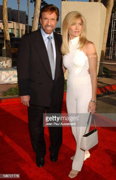 Chuck Norris and wife Gena during The Academy of Television Arts Sciences 2004 Hall of Fame Induction Ceremony Arrivals at ATAS Leonard H Goldenson...
