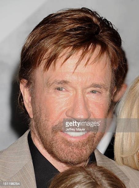 Chuck Norris arrives at 'The Expendables 2' Los Angeles premiere at Grauman's Chinese Theatre on August 15 2012 in Hollywood California