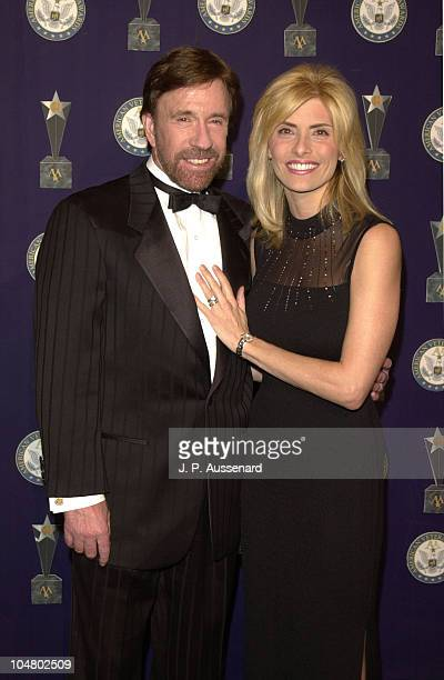 Chuck Norris wife Gina during 7th American Veteran Awards at Regent Beverly Wilshire Hotel in Beverly Hills California United States