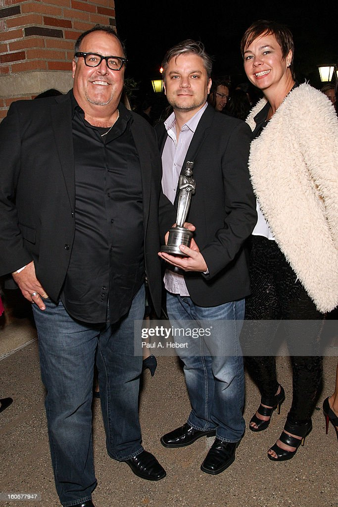 Chuck Peale, Brad Booker, and Kimber Peale attend the 40th Annual Annie Awards after party held at Royce Hall on the UCLA Campus on February 2, 2013 in Westwood, California.