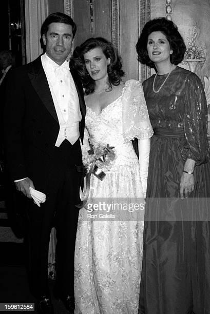 Chuck Robb Catherine Robb and Lynda Bird Johnson Robb attend 33rd Annual International Debutante Ball on December 29 1987 at the Waldorf Hotel in New...
