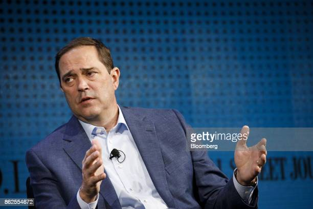 Chuck Robbins chief executive officer of Cisco Systems Inc speaks during the Wall Street Journal DLive global technology conference in Laguna Beach...