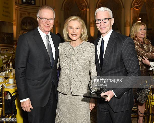 Chuck Scarborough Audrey Gruss and Anderson Cooper attend Hope for Depression Research Foundation 10th Annual Hope Luncheon Seminar at The Plaza...