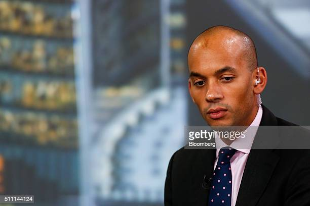 Chuka Umunna UK lawmaker for the opposition Labour party pauses during a Bloomberg Television interview in London UK on Thursday Feb 18 2016 A...