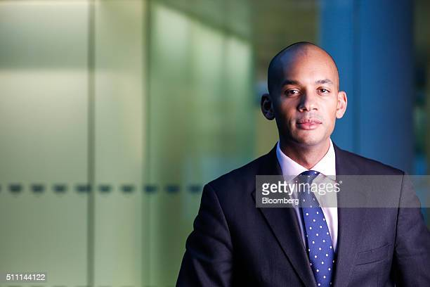 Chuka Umunna UK lawmaker for the opposition Labour party poses for a photograph following a Bloomberg Television interview in London UK on Thursday...