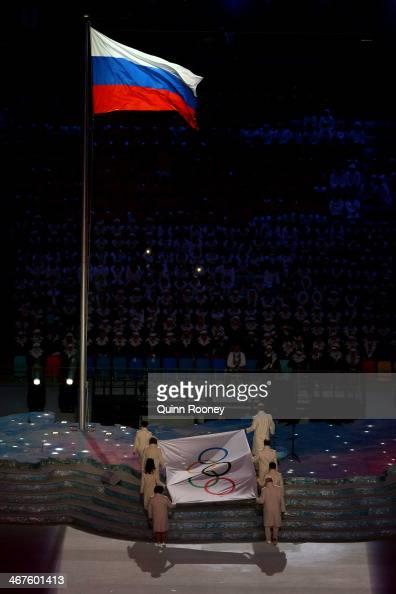 Chulpan Khamatova Lidiya Skoblikova Anastasia Popova Valentina Tereshkova Vyacheslav Fetisov Valeriy Gergiev Alan Enileev and Nikita Mikhalkov carry...