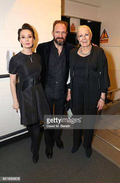 Chulpan Khamatova Ralph Fiennes and Vanessa Redgrave attend a performance of Prokofiev's Romeo Juliet in aid of Gift Of Life at the Royal Festival...