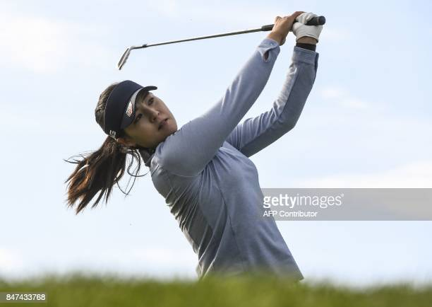 Chun Ingee from South Korea competes during the Evian Championship golf tournament in the French Alps town of EvianlesBains on September 15 2017 /...