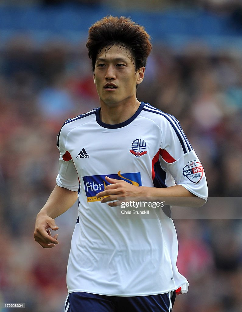 Chung Yong Lee of Bolton Wanderers in action during the Sky Bet Championship match between Burnley and Bolton Wanderers at Turf Moor on August 03, 2013 in Burnley, England.