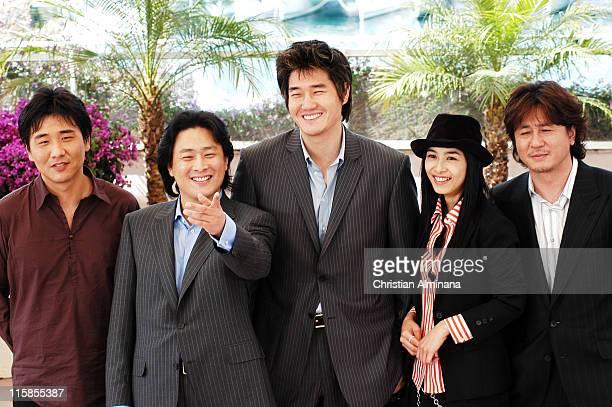 ChungHoon Chung ChanWook Park writer/director Jitae Yu HyeJung Gang and MinSik Choi
