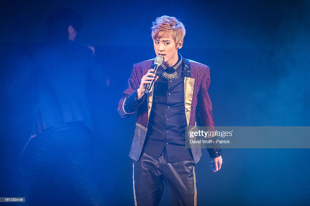 Chunji from Teen Pop performs at Le Trianon on February 9, 2013 in Paris, France.