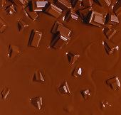 Chunks of Chocolate Melting