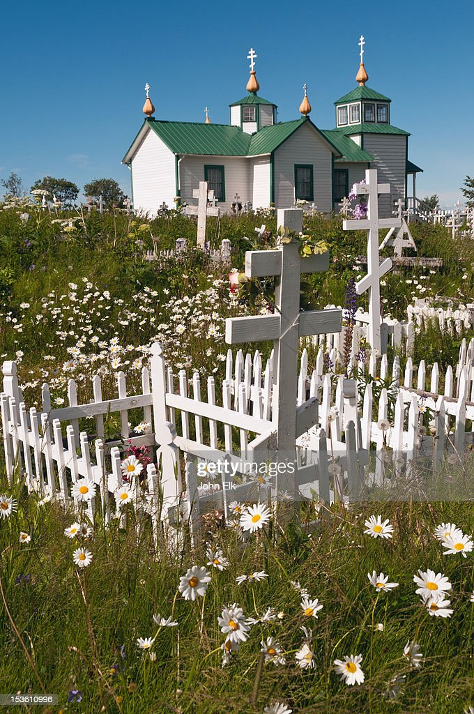 Church and cemetary : Stock Photo