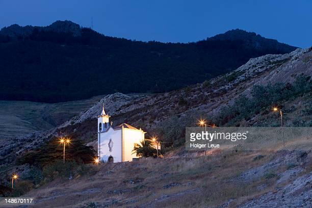 Church at dusk.