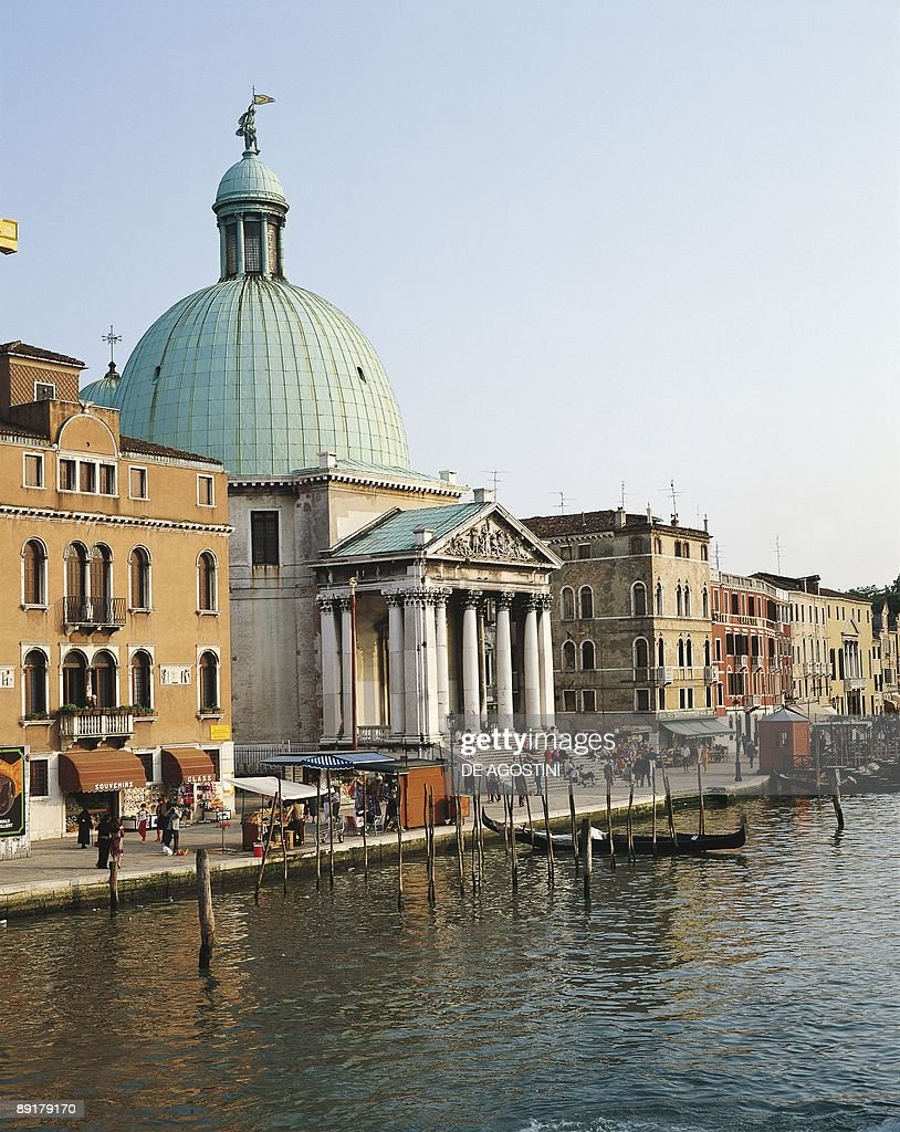 Church at the waterfront Church Of San Simeon Venice Veneto Italy