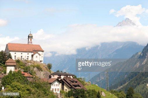 Church at Wassen, Switzerland.