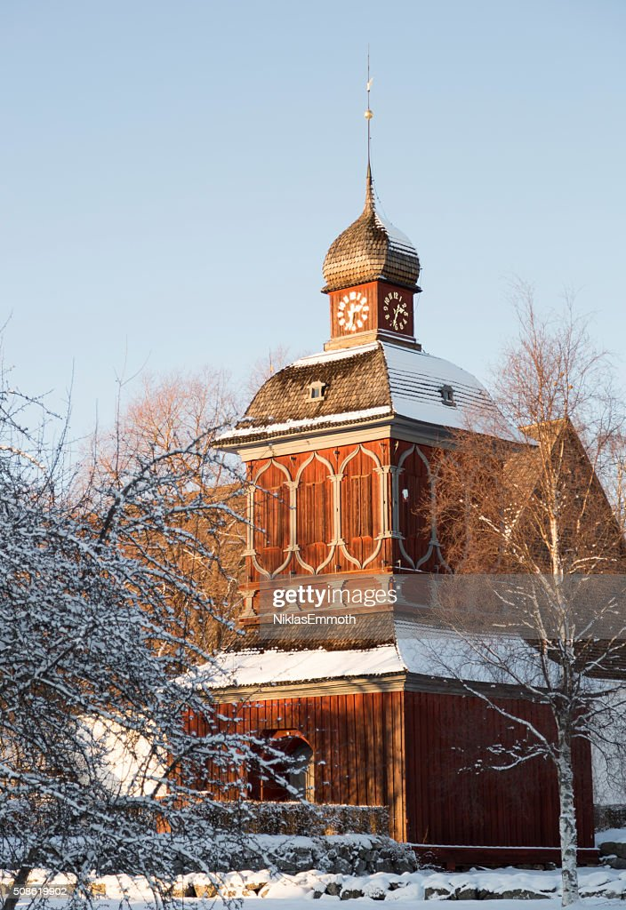 Church Building in Nordmaling, Sweden : Stock Photo