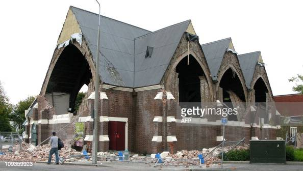 A church building lies in ruins in the aftermath of a 63 magnitude earthquake in Christchurch on February 22 2011 At least 65 people died in the...