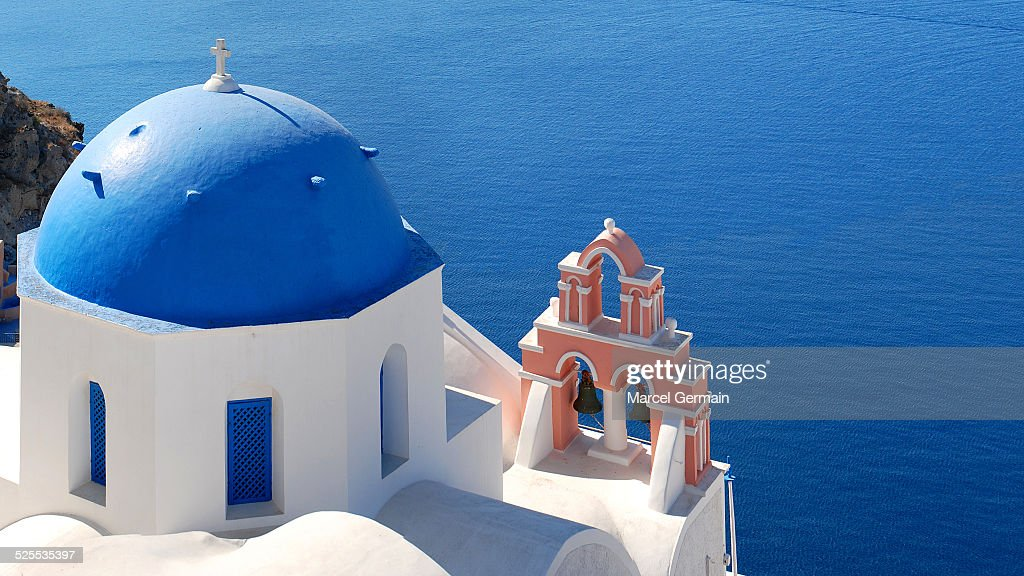 Church by the sea in Oia, Santorini (Greece)
