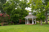 Church Cove Park with gazebo at the Inner Harbor of St Michaels a historic town in Maryland USA situated on Chesapeake Bay