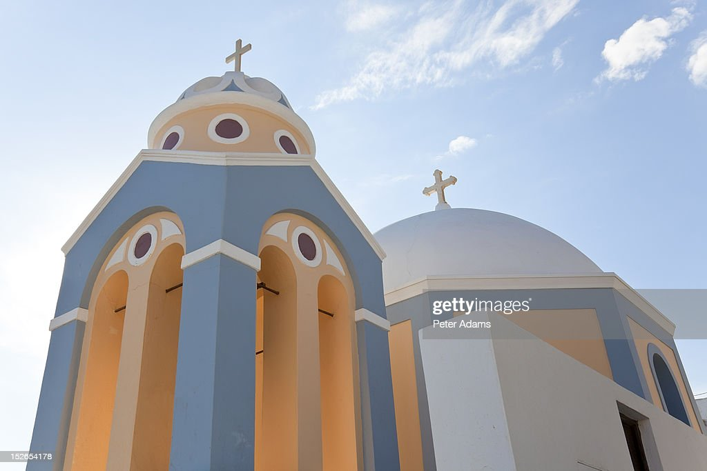 Church, Fira, Santorini (Thira), Cyclades, Greece : Stock Photo