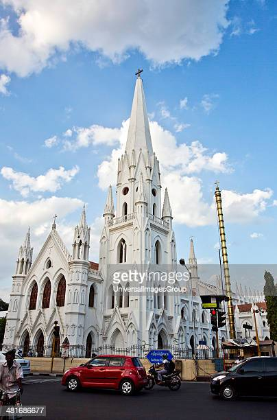 Church in a city San Thome Basilica Santhome Mylapore Chennai Tamil Nadu India
