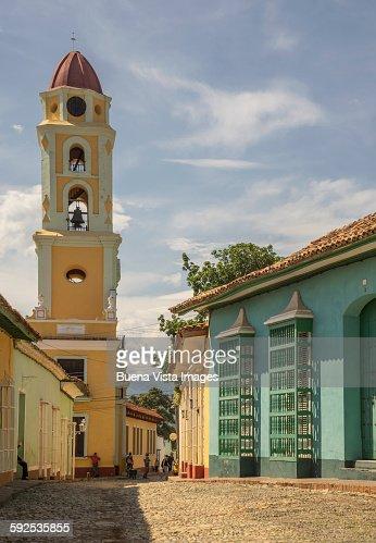 Church in a colonial town