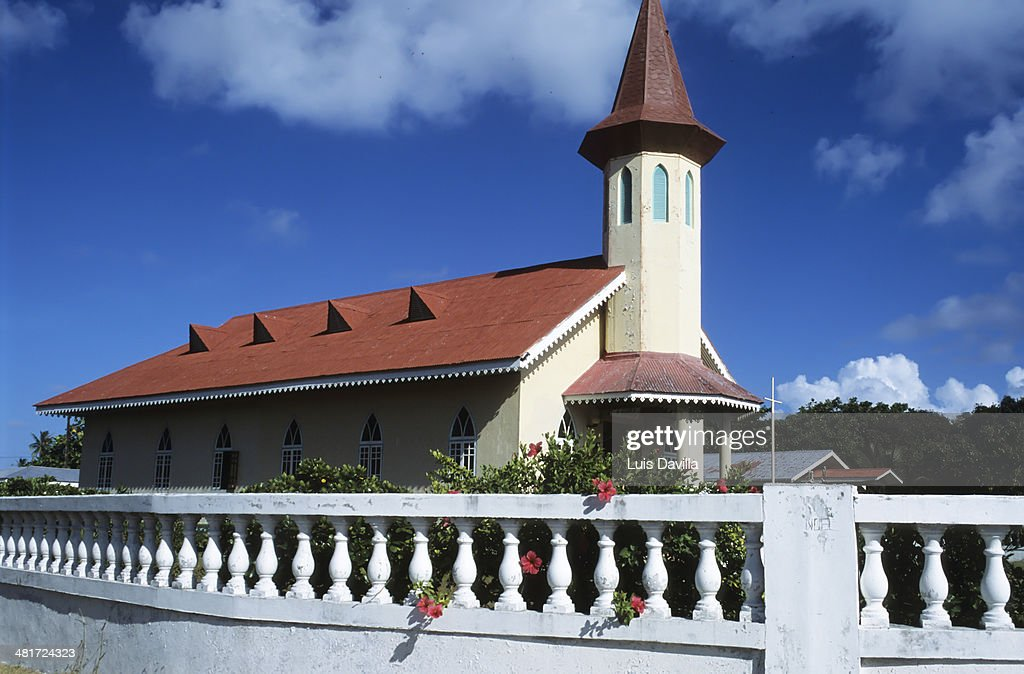 church in avatoru.rangiroa. Polynesia