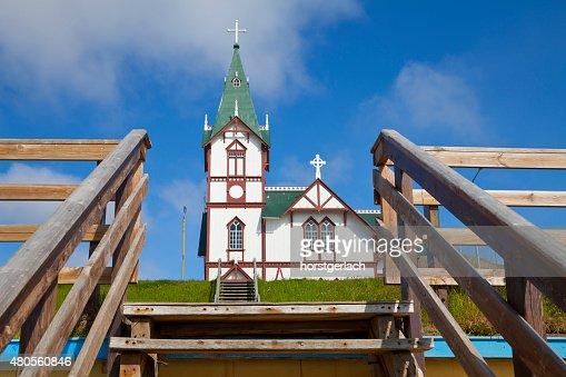 Church in Húsavík, Iceland : Stock Photo