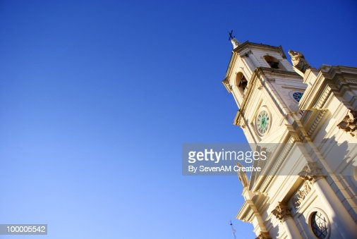 Church in Plaza 25 Mayo, Corrientes, Argentina : Foto de stock