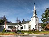 Christian church in a small Adirondack town
