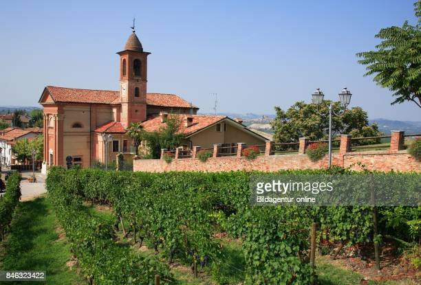 Church In The Village of Grinzane Cavour Barolo Area Piedmont Italy