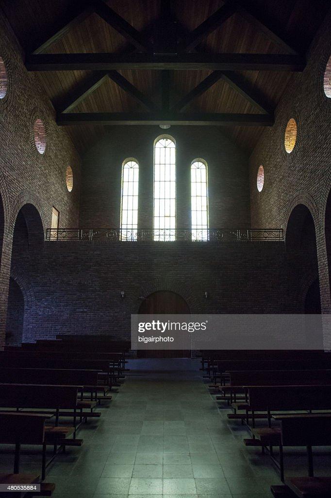 Church interior. Windows. : Stock Photo