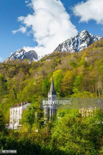 Church LuzSaintSauveur HautesPyrenees department MidiPyrenees region France Europe