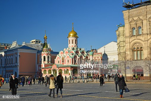 Church of  Kazan Icon  Mother of God on Red Square. : Stockfoto