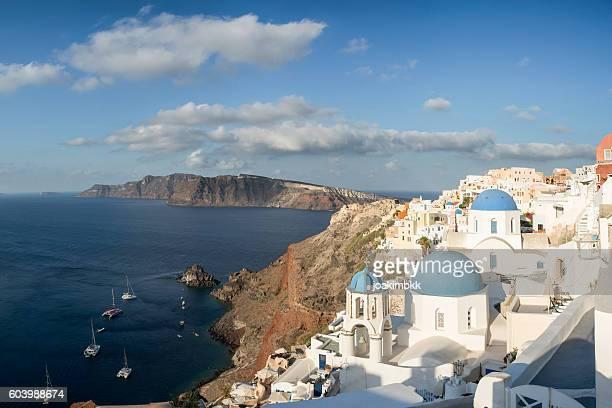 Church of Oia village in Santorini island of Greece