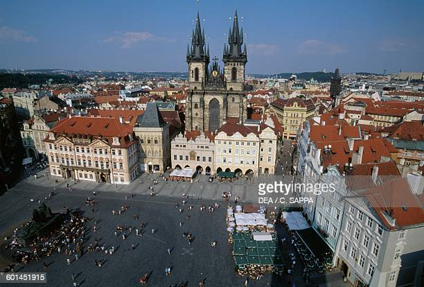 Church of Our Lady before Tyn 13651511 Old Town square in Prague Czech Republic