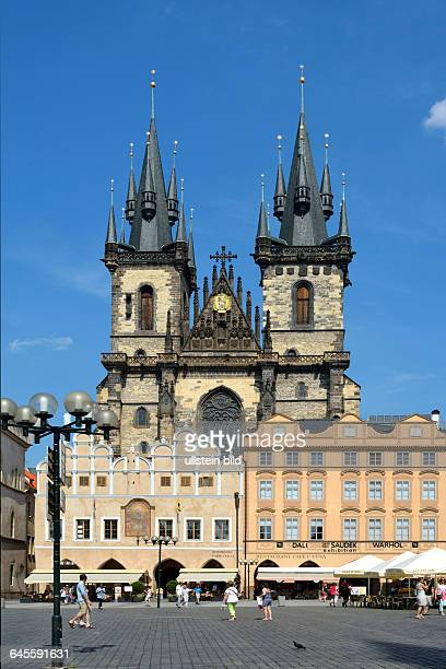 Church of Our Lady before Tyn at the Old Town Square of Prague in the Czech Republic