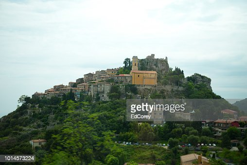 Eglise Notre Dame de l'Aaomption at Eze France : Foto stock