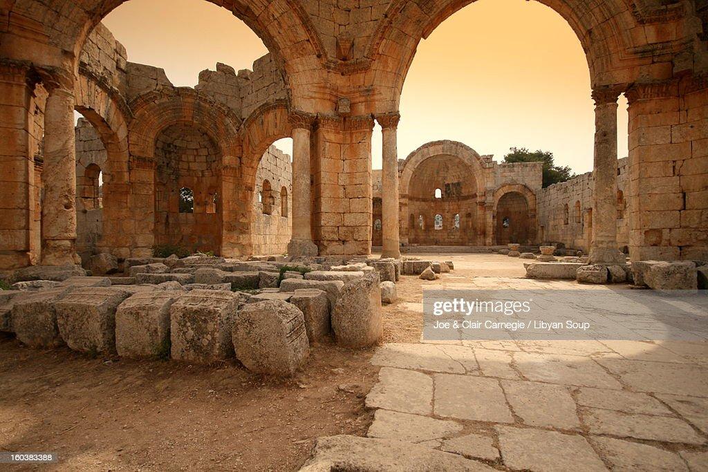 Church of Saint Simeon Stylites, Syria. : Stock Photo
