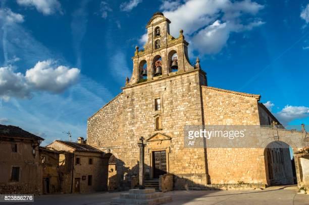 Church of Santa María del Castillo in Maderuelo, Segovia, Spain
